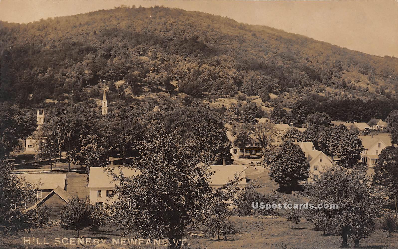 Hill Scenery - Newfane, Vermont VT Postcard
