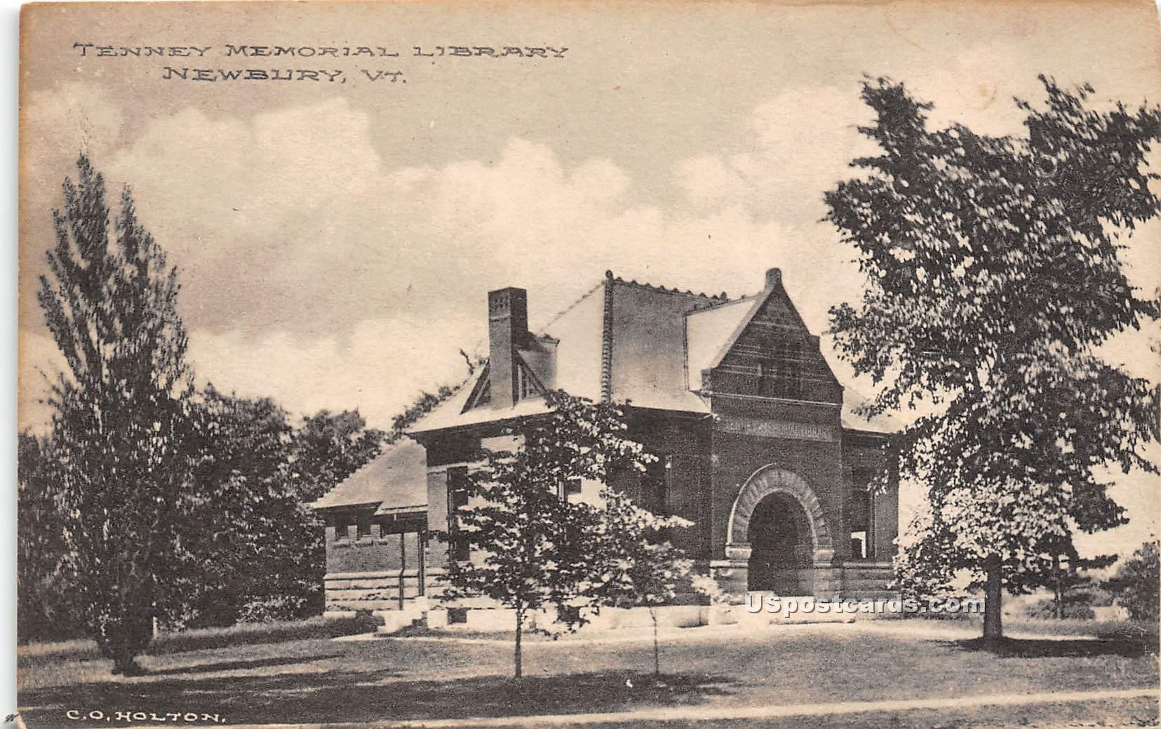 Tenney Memorial Library - Newbury, Vermont VT Postcard