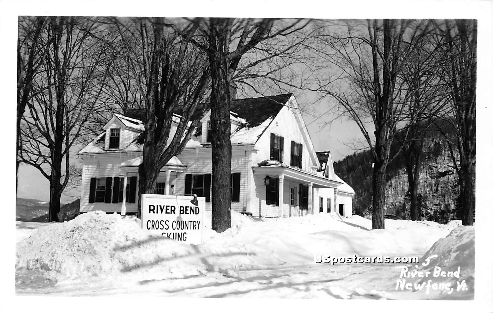 River Bend Cross Country Skiing - Newfane, Vermont VT Postcard