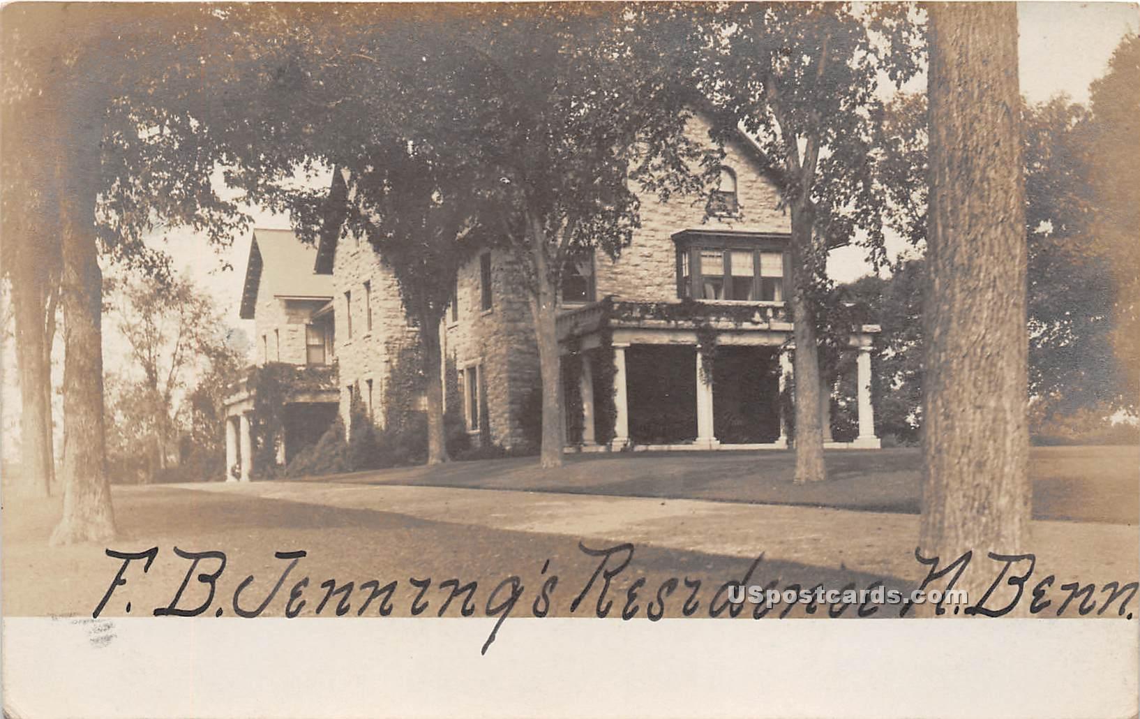 FB Jennings Residence - North Bennington, Vermont VT Postcard