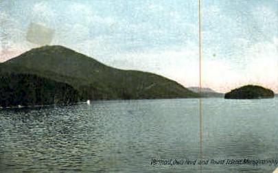 Round Island - Owls Head, Vermont VT Postcard