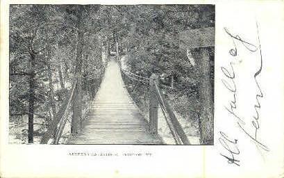 Suspension Bridge - Proctor, Vermont VT Postcard