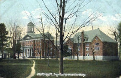 Troy Conference Academy - Poultney, Vermont VT Postcard