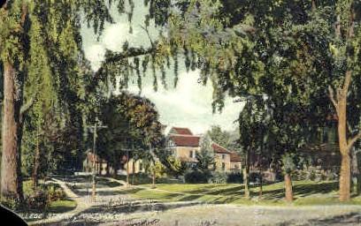 College Street - Poultney, Vermont VT Postcard