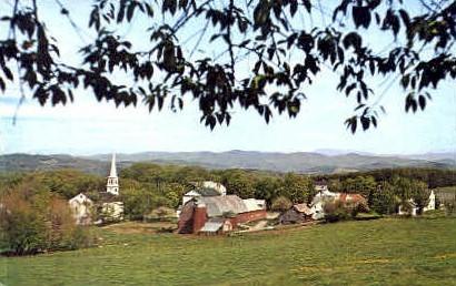 Rolling Country - Peacham, Vermont VT Postcard