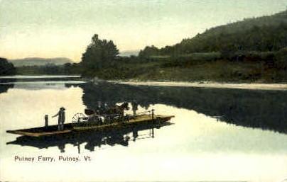 Putney Ferry - Vermont VT Postcard