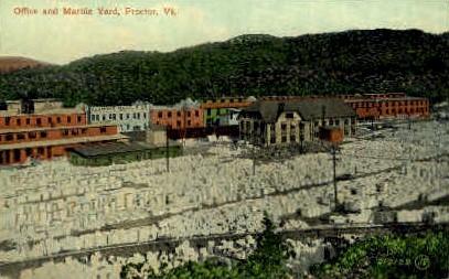 Marble Yard - Proctor, Vermont VT Postcard