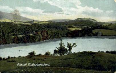 Barbers Pond - Pownal, Vermont VT Postcard