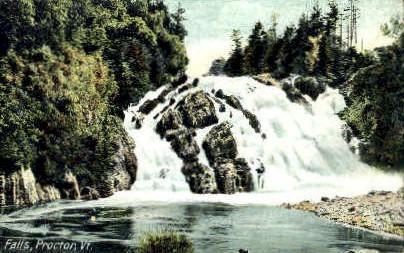 Falls - Proctor, Vermont VT Postcard