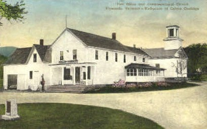 Post Office - Plymouth, Vermont VT Postcard