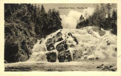 Sutherland Falls - Proctor, Vermont VT Postcard