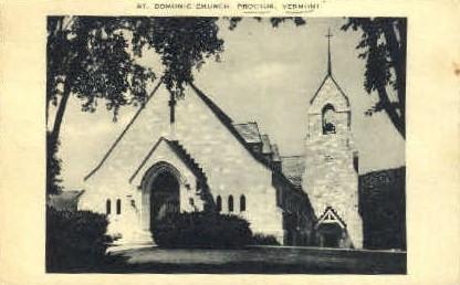 St. Domonic Church - Proctor, Vermont VT Postcard