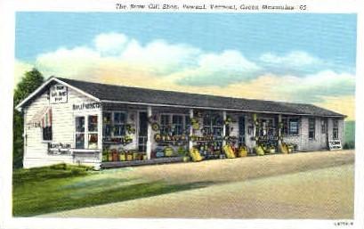 Brow Gift Shop - Pownal, Vermont VT Postcard