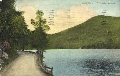 Echo Lake - Plymouth, Vermont VT Postcard
