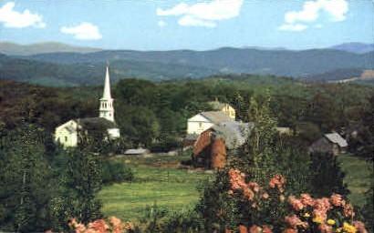 Village - Peacham, Vermont VT Postcard