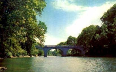 Marble Memorial Bridge - Proctor, Vermont VT Postcard