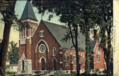 R. C. Church - Poultney, Vermont VT Postcard