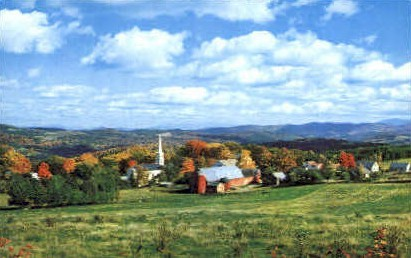 Autumn - Peacham, Vermont VT Postcard