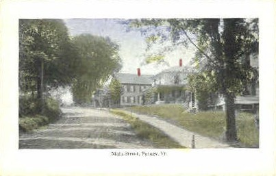 Main Street - Putney, Vermont VT Postcard