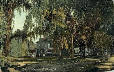 Bently Avenue - Poultney, Vermont VT Postcard
