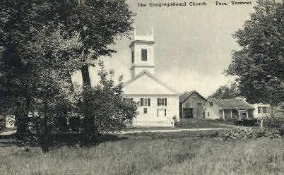 Congregational Church - Peru, Vermont VT Postcard