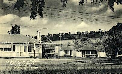 Cherry Court Cabins - Pownal, Vermont VT Postcard