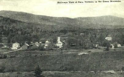 Green Mountains - Peru, Vermont VT Postcard