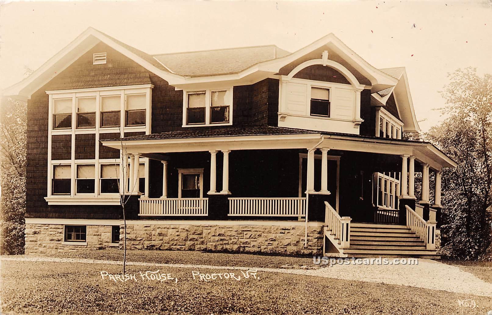 Parish House - Proctor, Vermont VT Postcard