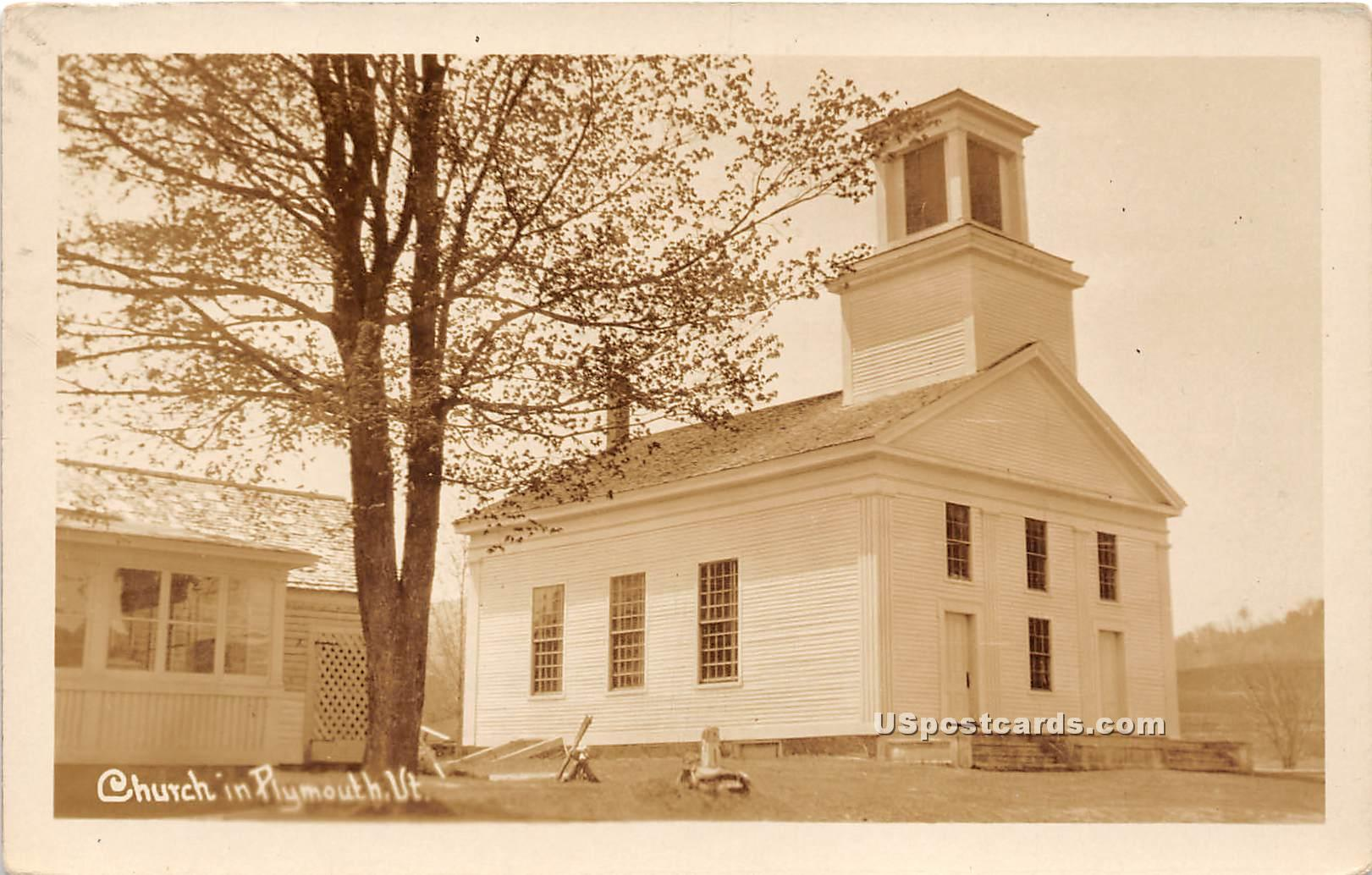 Church - Plymouth, Vermont VT Postcard
