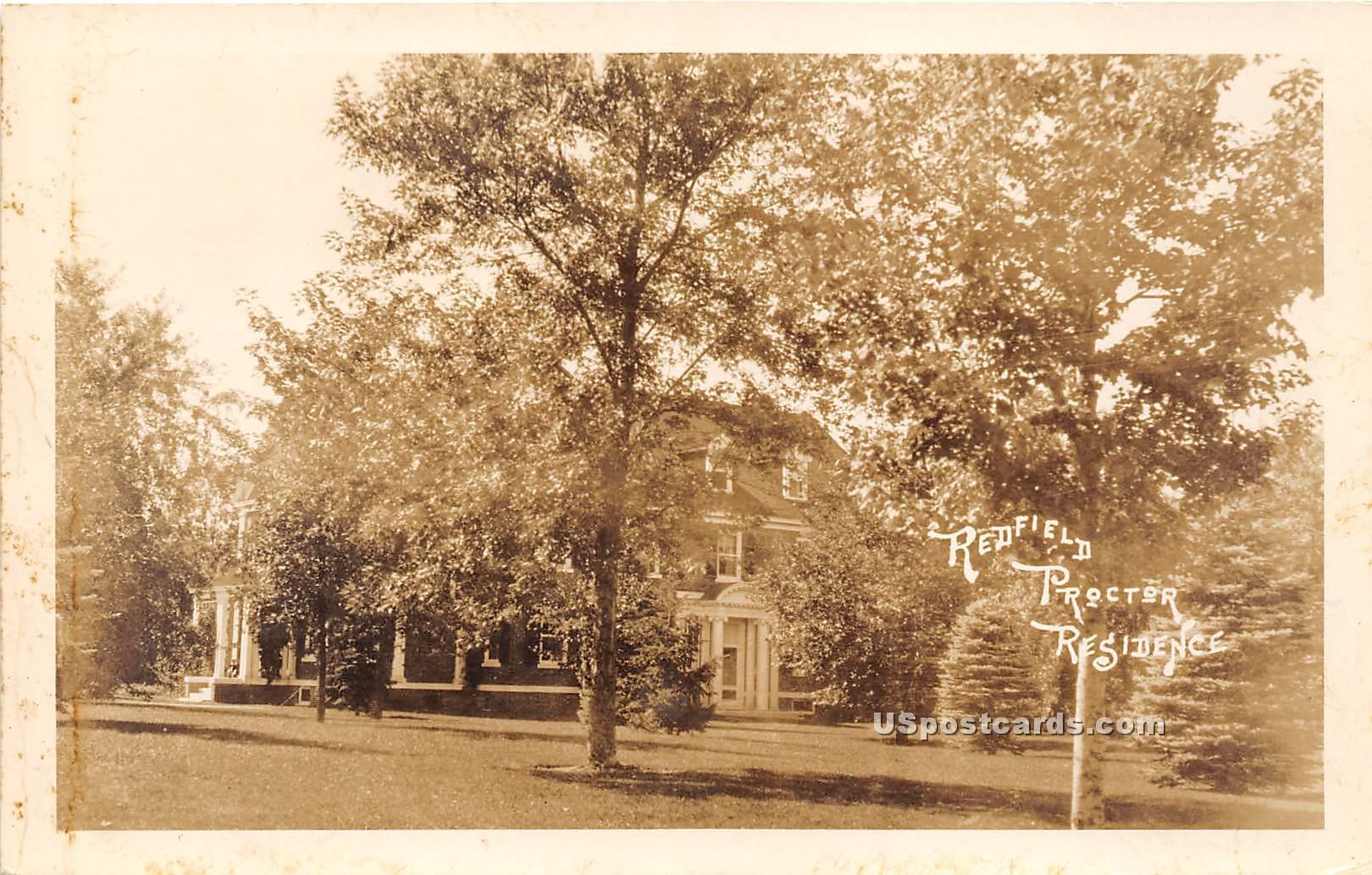 Redfield Proctor's Residence - Vermont VT Postcard