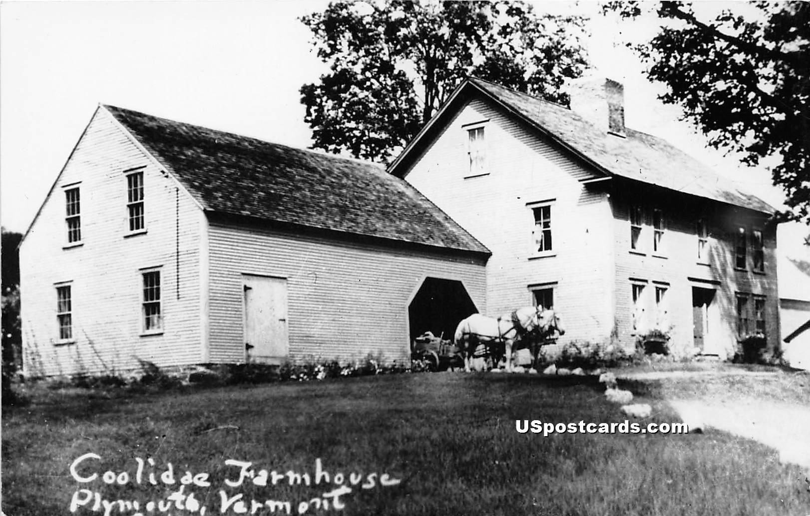 Coolidge Farmhouse - Plymouth, Vermont VT Postcard
