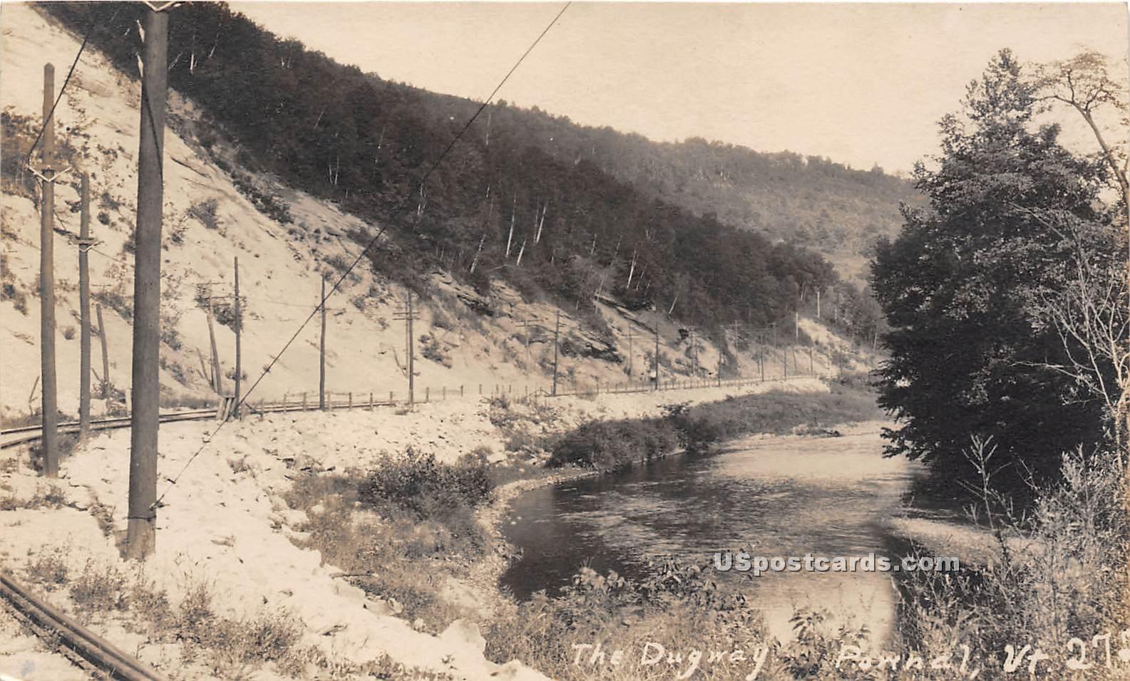 Dugway - Pownal, Vermont VT Postcard