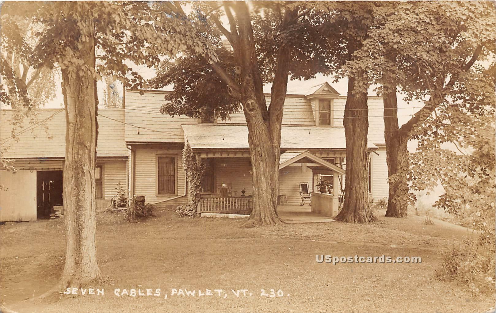 Seven Gables - Pawlet, Vermont VT Postcard