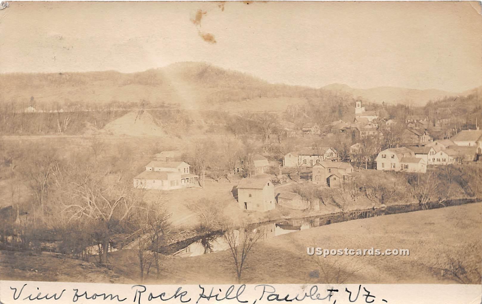 Rock Hill - Pawlet, Vermont VT Postcard