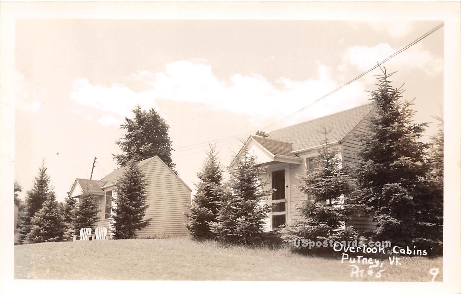 Overlook Cabins - Putney, Vermont VT Postcard