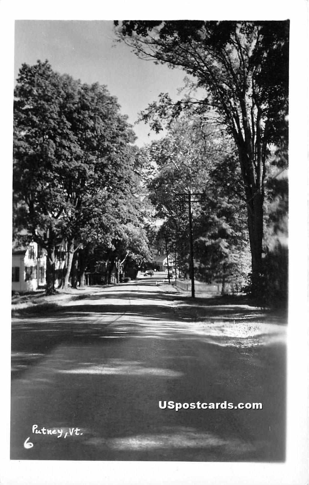 Street Scene - Proctor, Vermont VT Postcard