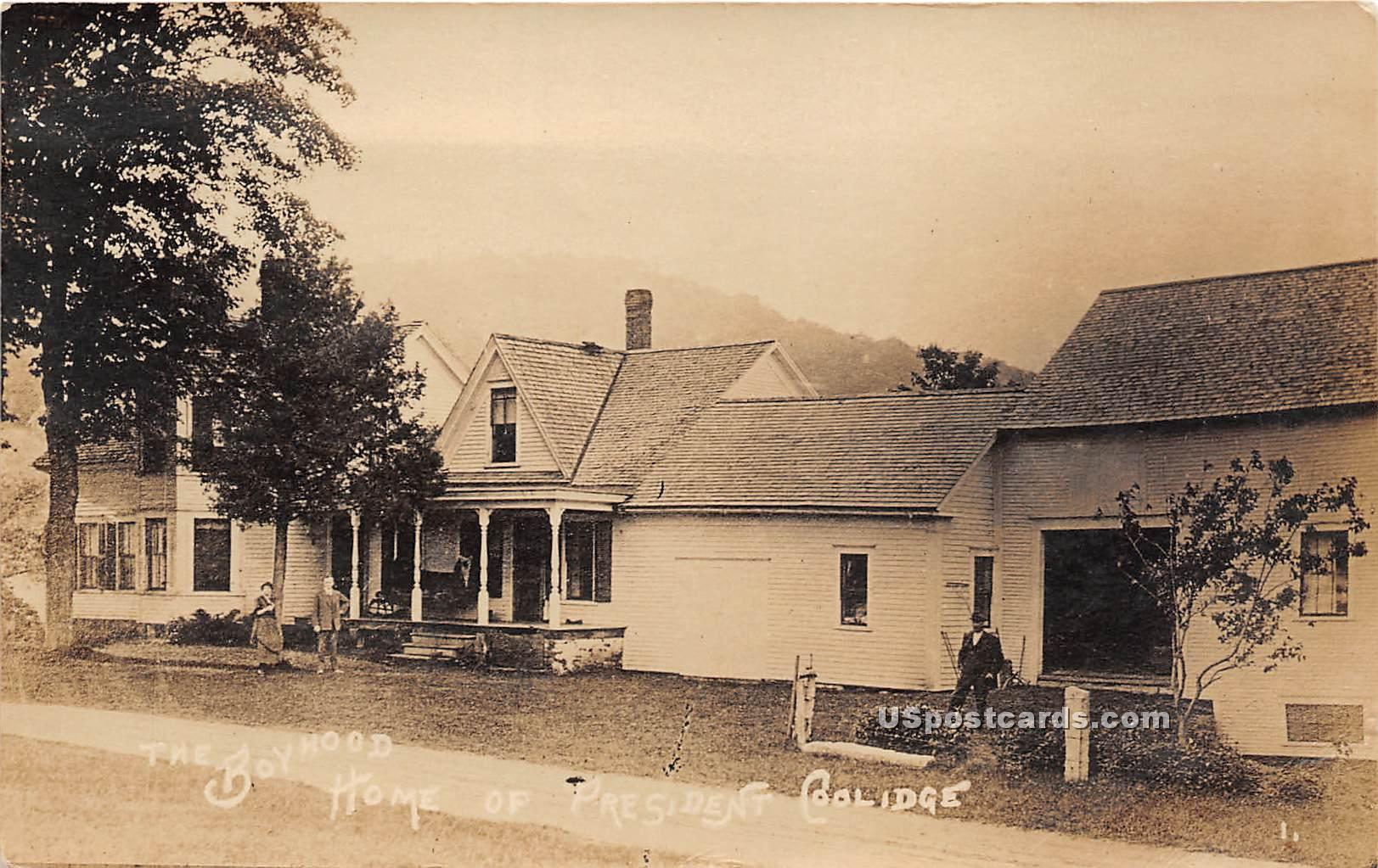 Boyhood Home of President Coolidge - Plymouth, Vermont VT Postcard