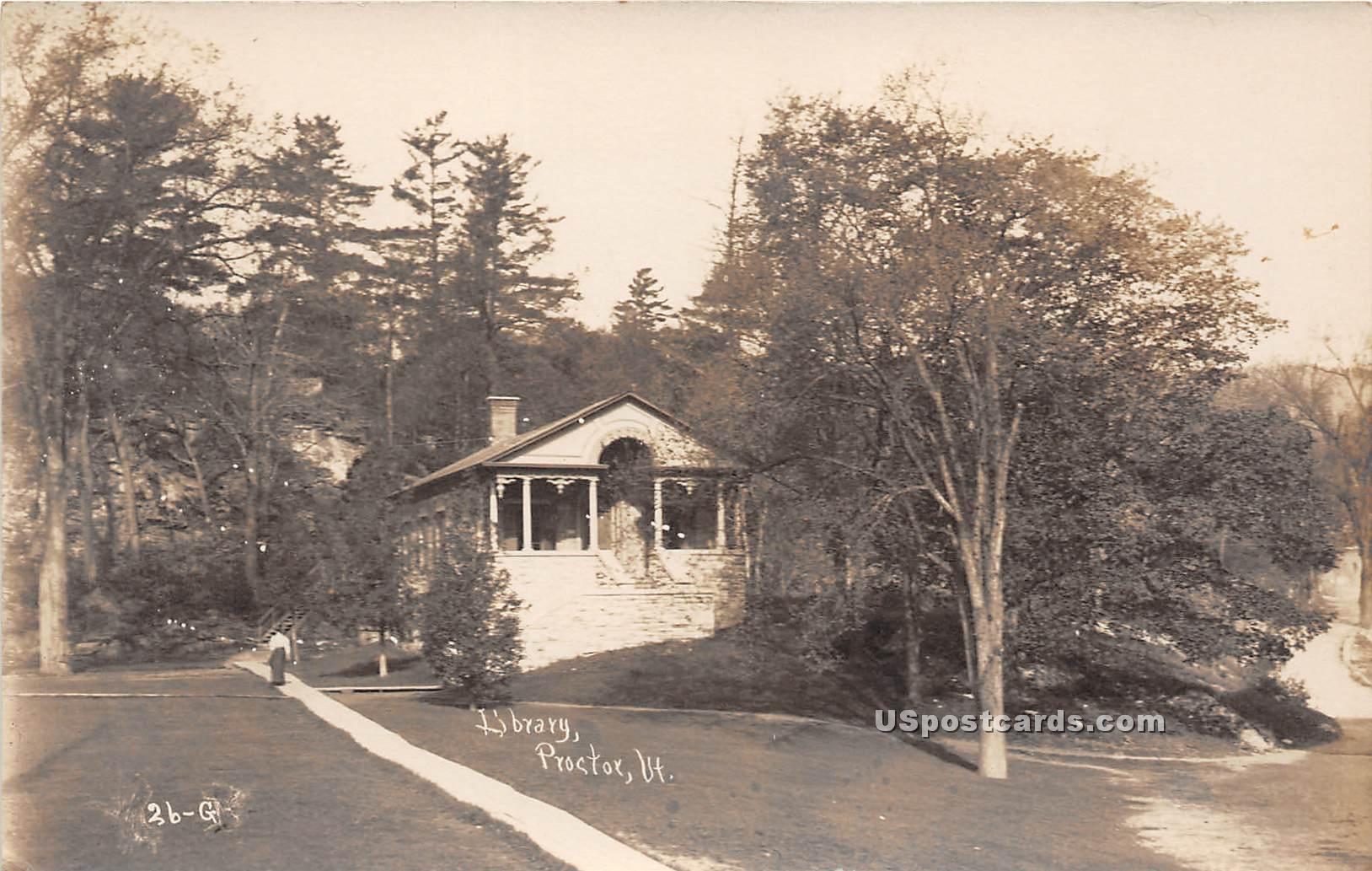 Library - Proctor, Vermont VT Postcard
