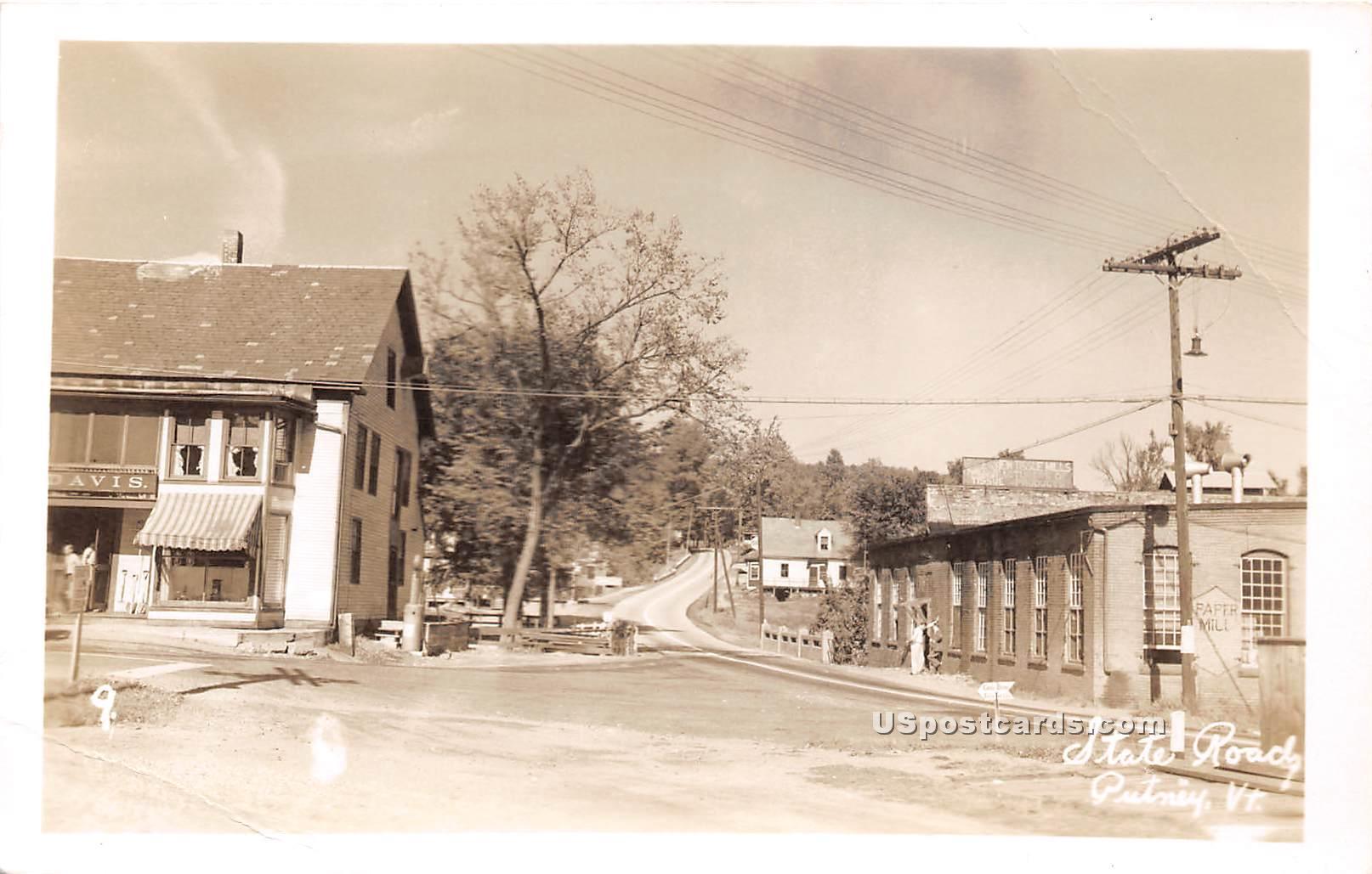 State Road - Putney, Vermont VT Postcard