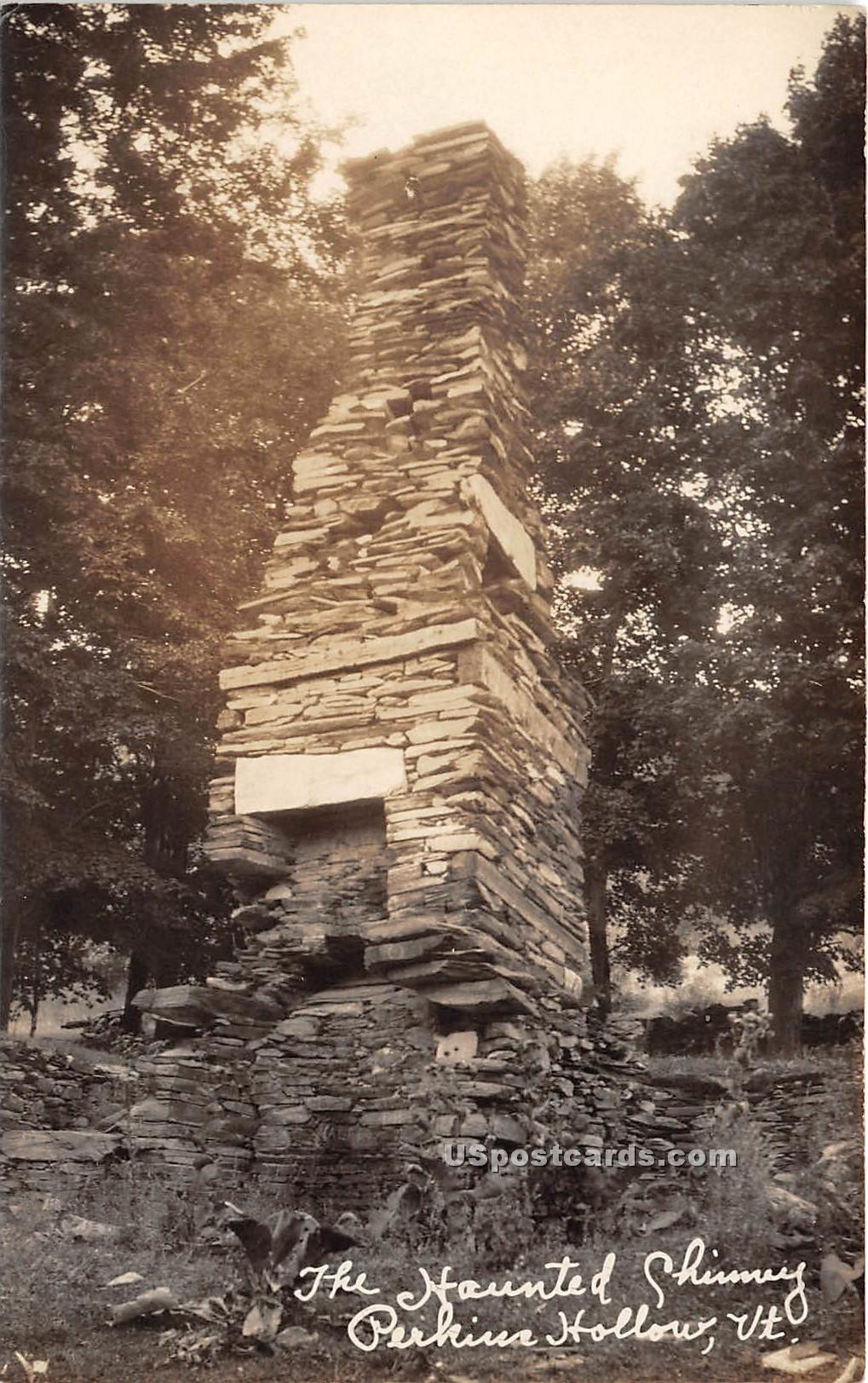 Haunted Chimney - Perkins Hollow, Vermont VT Postcard