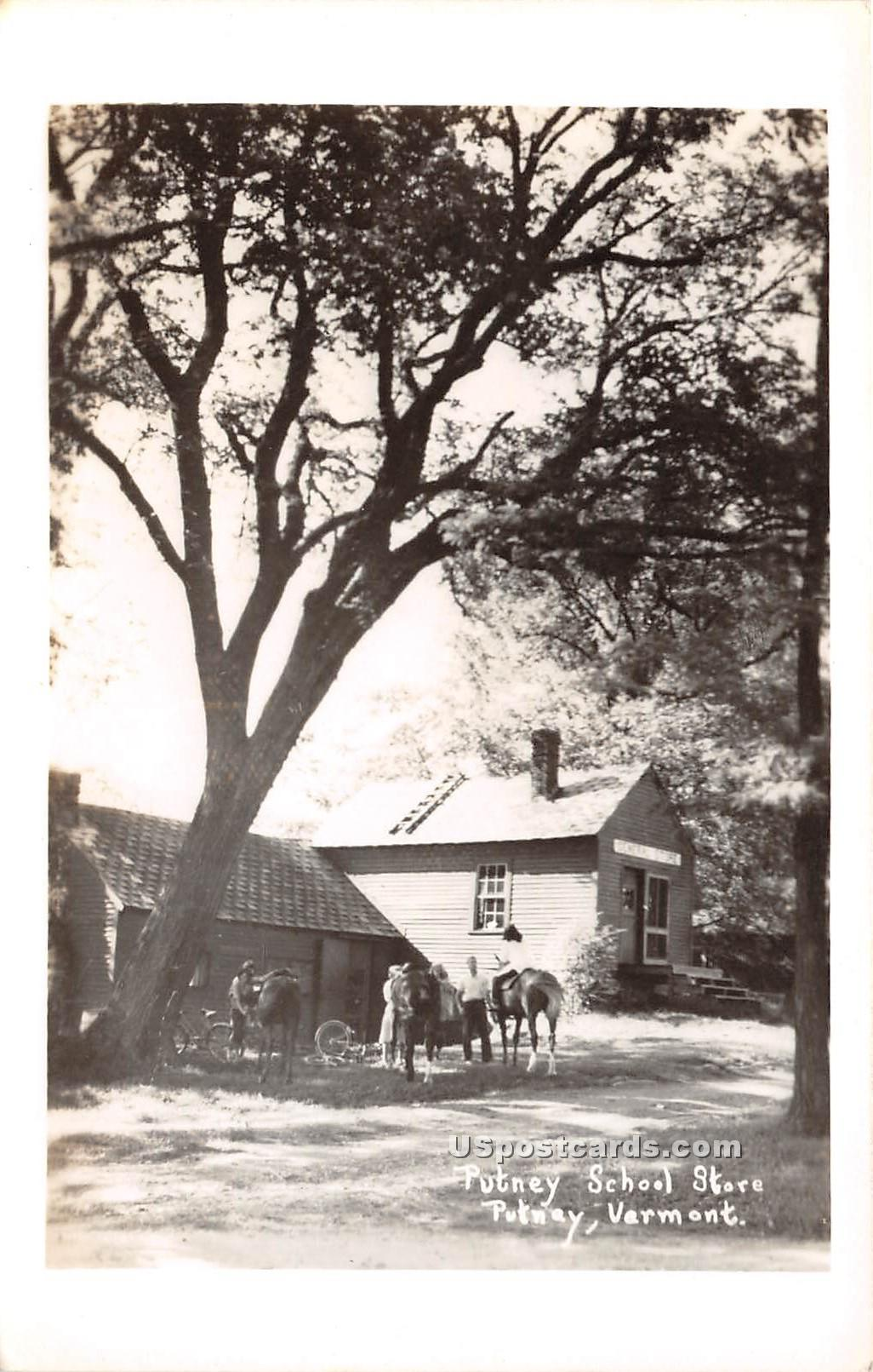 Putney School Store - Vermont VT Postcard