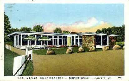 Dewey Corporation - Quechee, Vermont VT Postcard