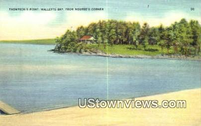 Thompson's Point - Malletts Bay, Vermont VT Postcard