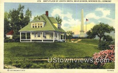 Birthplace of Joseph Smith - Sharon, Vermont VT Postcard