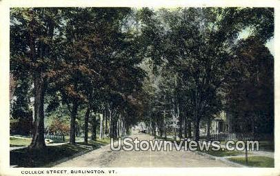 College Street - Burlington, Vermont VT Postcard