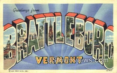 Greetings from Vermont - Brattleboro Postcard