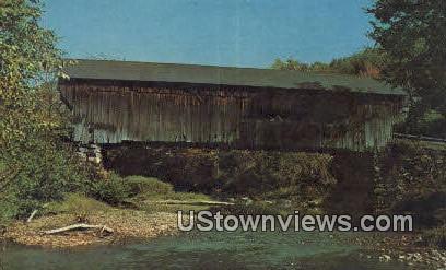 Worral Covered bridge - Chester, Vermont VT Postcard