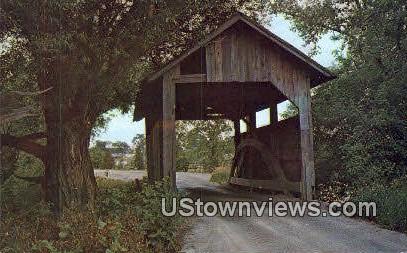Old Covered Bridge - Charlotte, Vermont VT Postcard