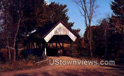 Covered Bridge - Danville, Vermont VT Postcard
