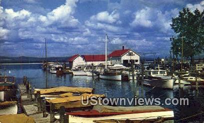 Burlington Yacht Basin - Lake Champlain, Vermont VT Postcard